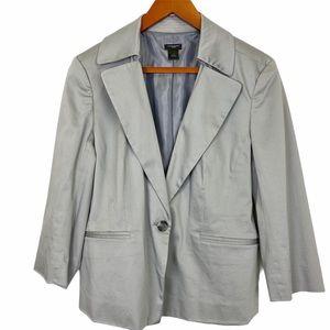 ANN TAYLOR Factory Gray Polished Cotton Blazer